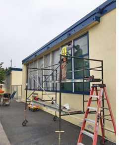 Window replacements at SMMUSD schools in summer 2017